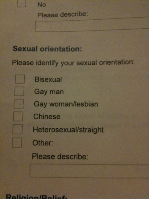 Who knew I was Chinese?