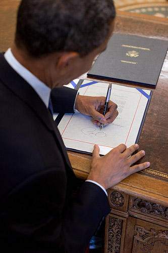 President Barack Obama, who is left handed